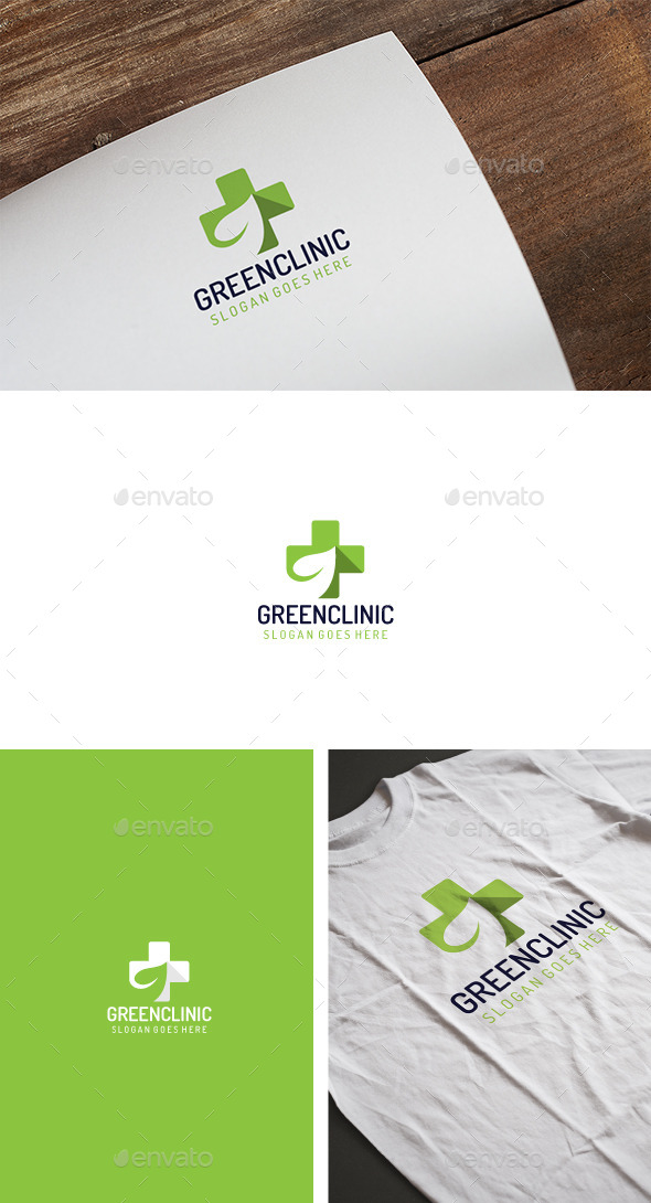Green Clinic Logo - Logo Templates