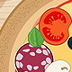 Pizza and Ingredients on Wooden Background - GraphicRiver Item for Sale