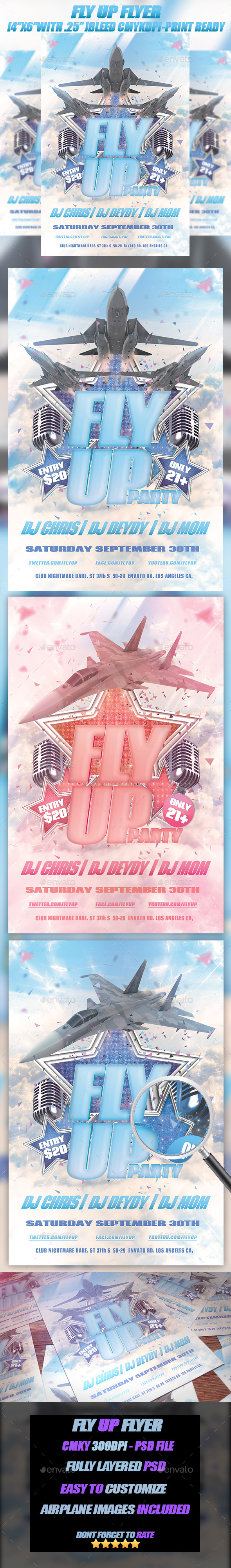 Fly Up - Events Flyers