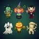 Set of Cartoon Halloween Characters - GraphicRiver Item for Sale
