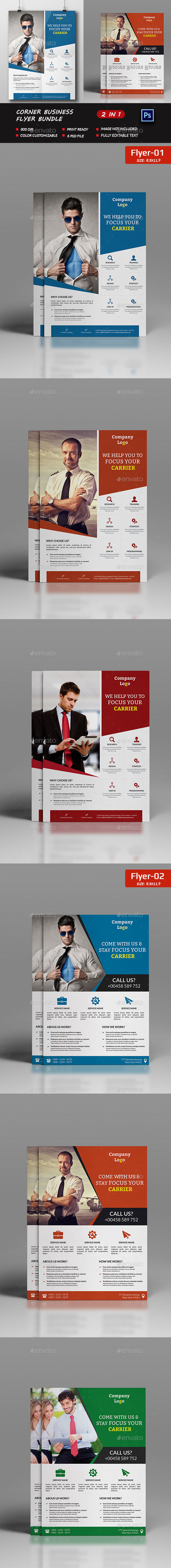 Corner Business Flyer Bundle - Corporate Flyers