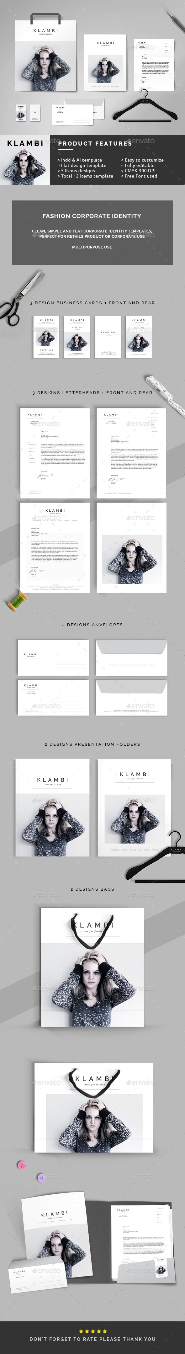 Fashion Corporate Identity - Stationery Print Templates