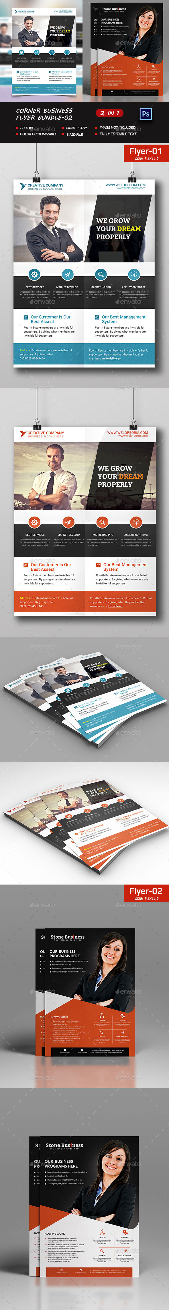 Shadow business Flyer Bundle - Flyers Print Templates