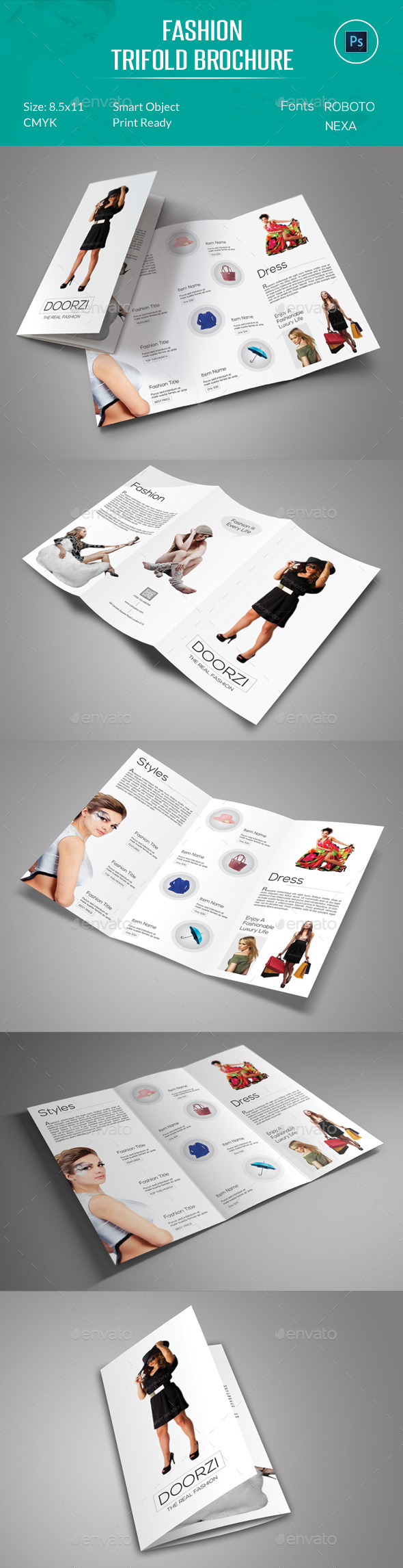 Fashion Trifold Brochure - Catalogs Brochures