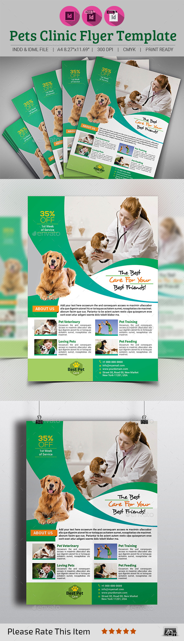 Pets Clinic Flyer Template - Commerce Flyers