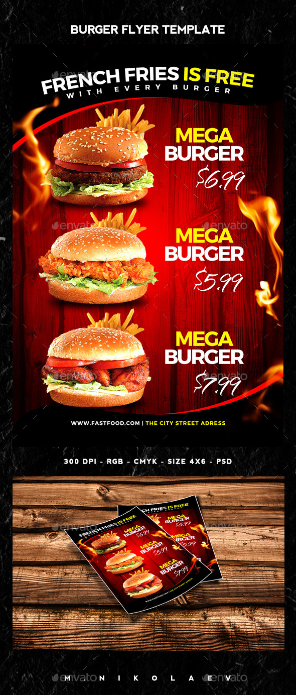 Burger Flyer - Restaurant Flyers