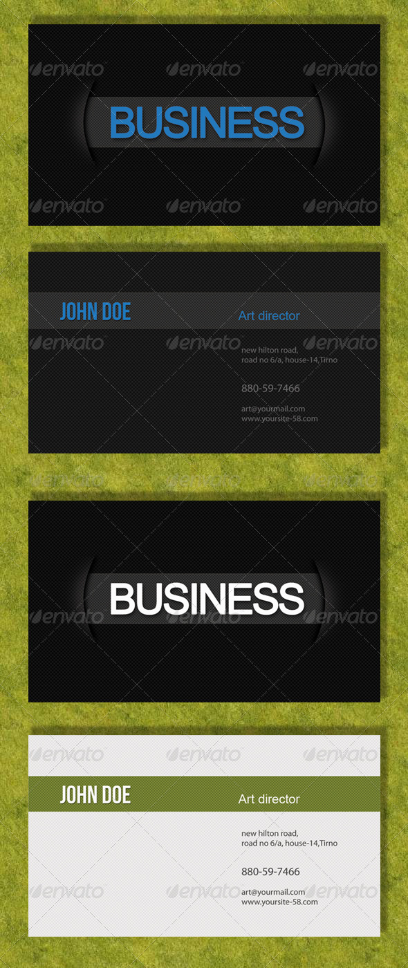 Professional Black & White Business Card - Creative Business Cards