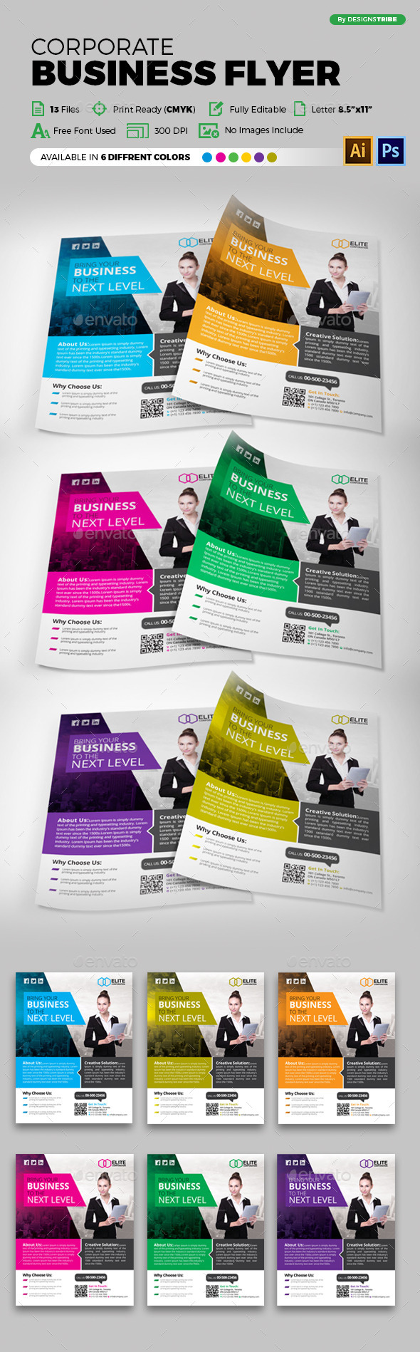 Multipurpose Business Flyer 70 - Corporate Flyers
