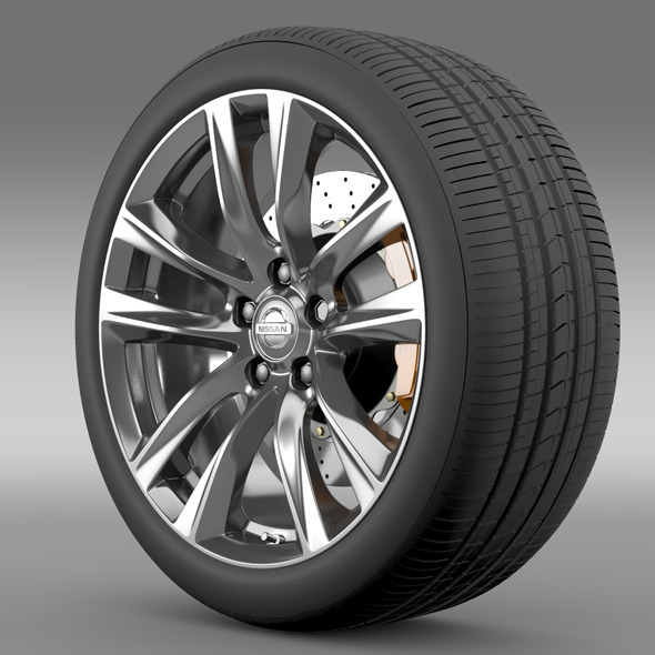 Nissan Fuga Hybrid wheel 2015 - 3DOcean Item for Sale