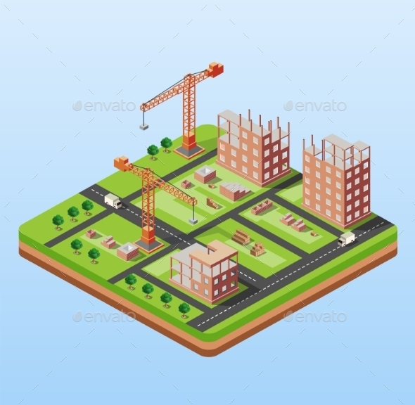Industrial City Building - Buildings Objects