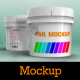 Plastic Pails Container Packaging Mockup - GraphicRiver Item for Sale