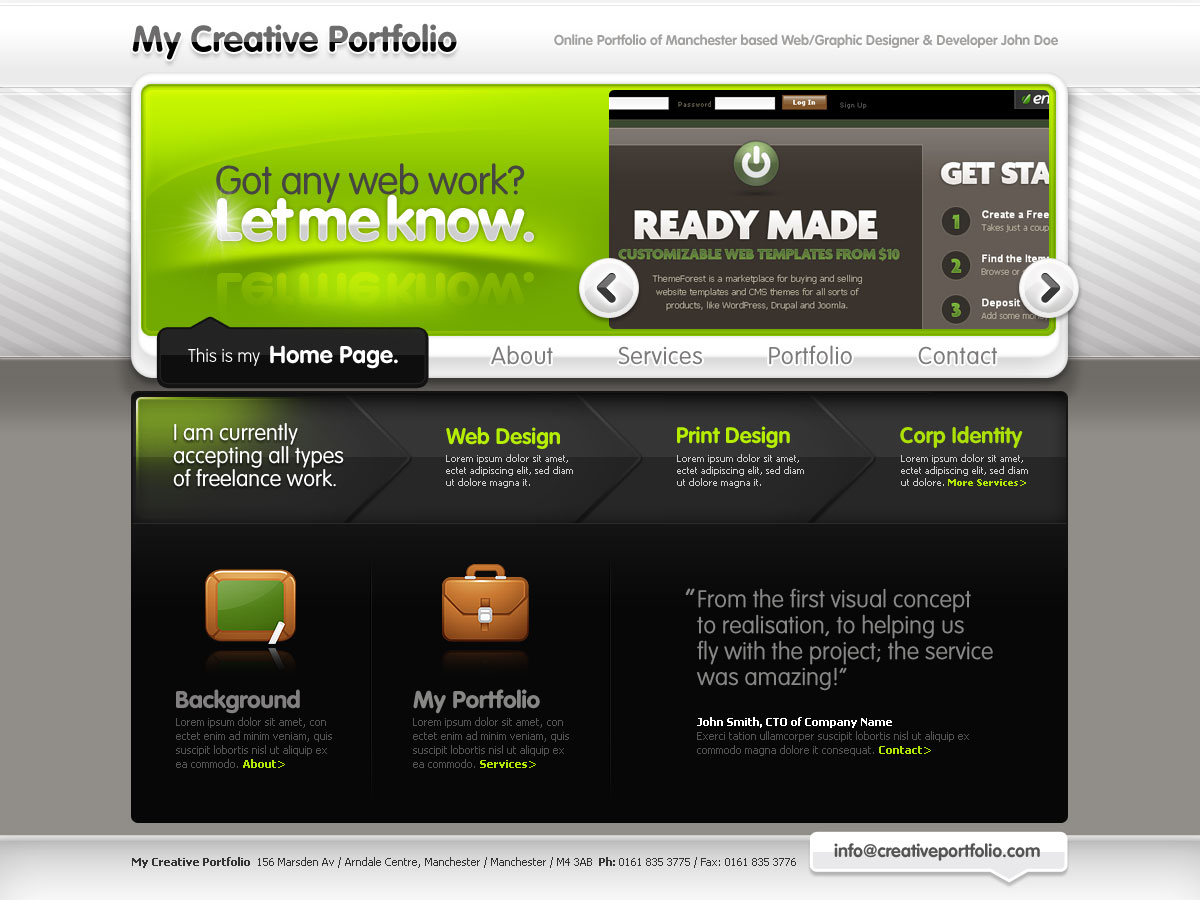 Free Download Creative Portfolio for Freelancers or Studios Nulled Latest Version