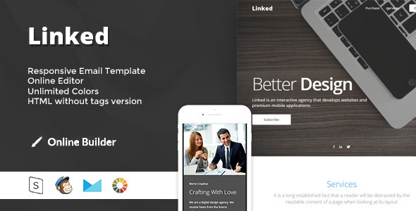 Linked - Modern Email Template + Online Access