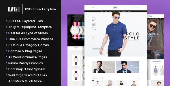 RAVISH – PSD Store Template