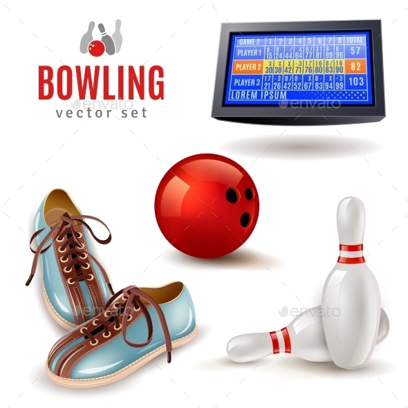 Bowling Icons Set - Sports/Activity Conceptual