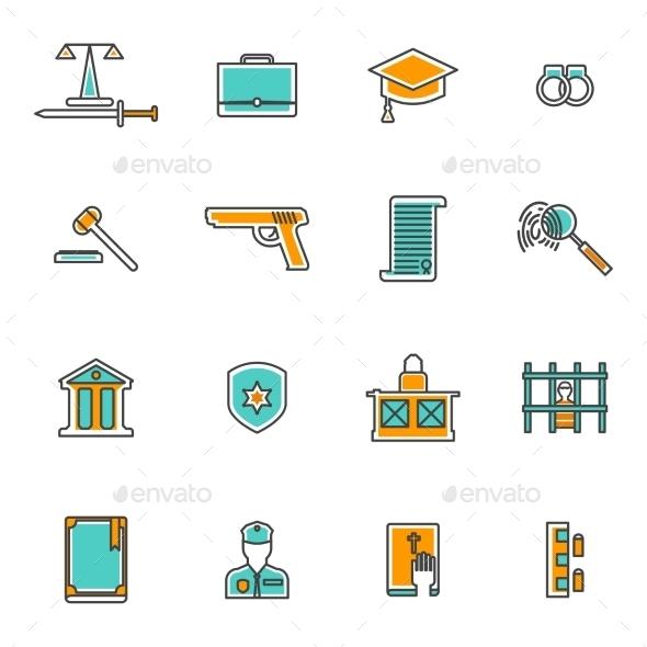 Judgement Line Icons Set