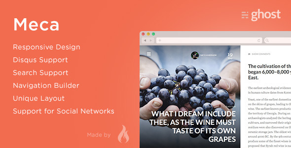 Meca - Premium Ghost Theme - Ghost Themes Blogging