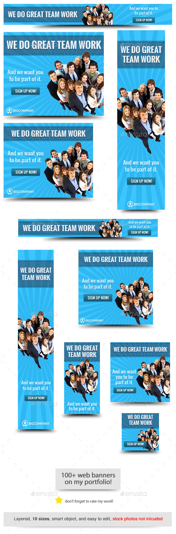 Corporate Web Banner Design Template 68 - Banners & Ads Web Elements