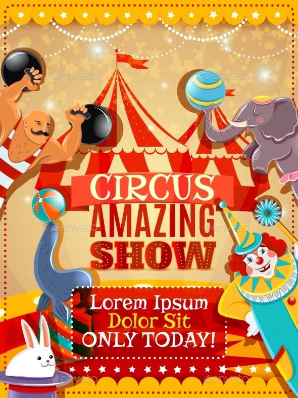 Circus Performance Announcement Vintage Poster - Miscellaneous Conceptual