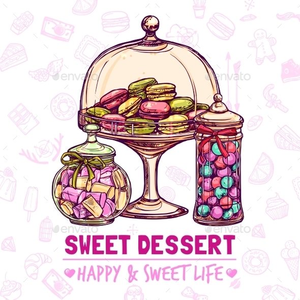 Candy Shop Poster - Food Objects