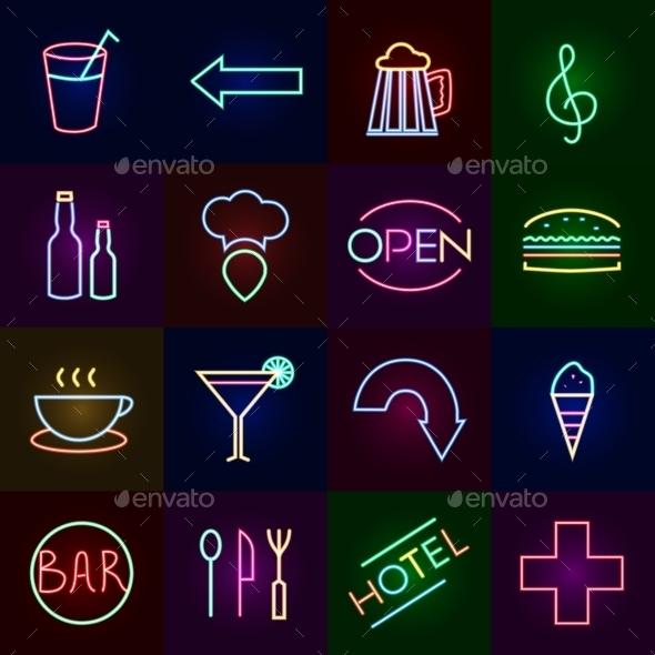 Neon Icons Set - Miscellaneous Icons