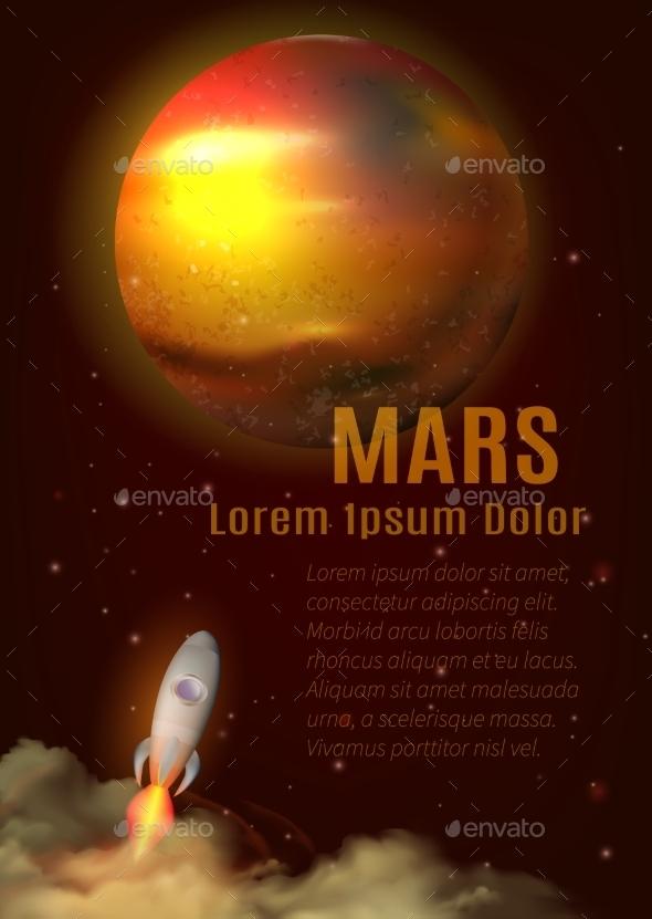 Mars Planet Poster - Landscapes Nature