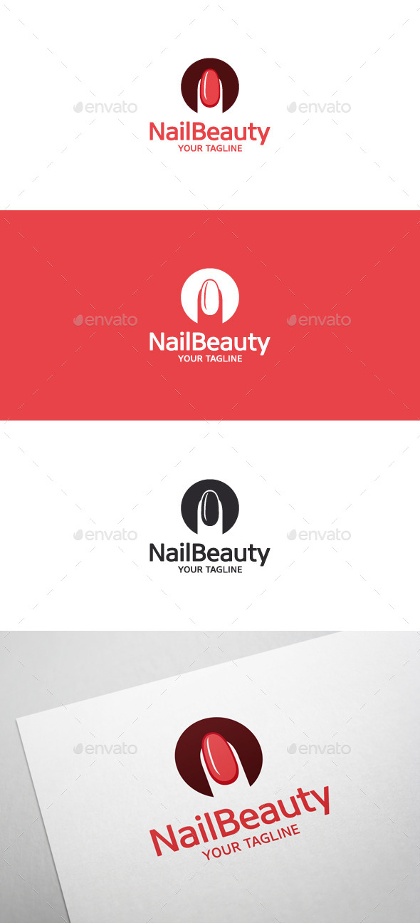 Nail Beauty Logo • Nail Art - Symbols Logo Templates