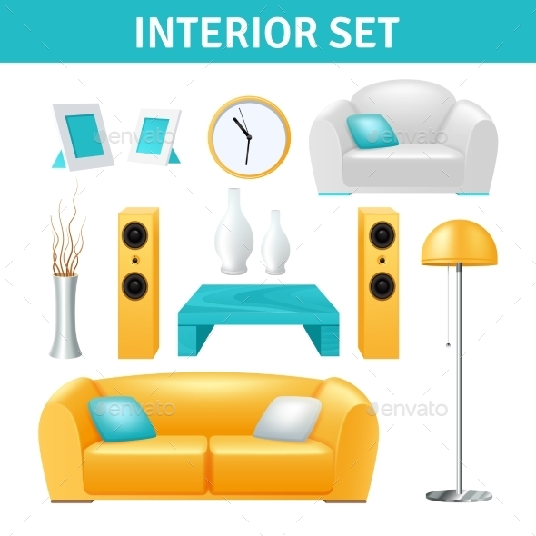 Interior Design Set - Man-made Objects Objects