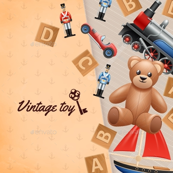 Vintage Toys Background  - Man-made Objects Objects