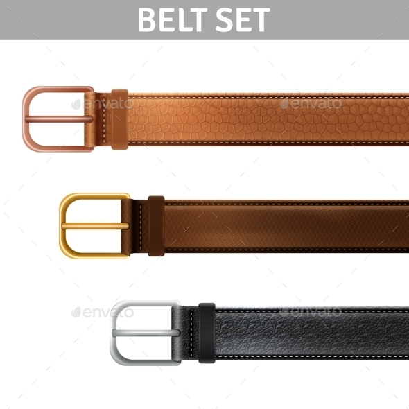 Realistic Belts Set - Retail Commercial / Shopping