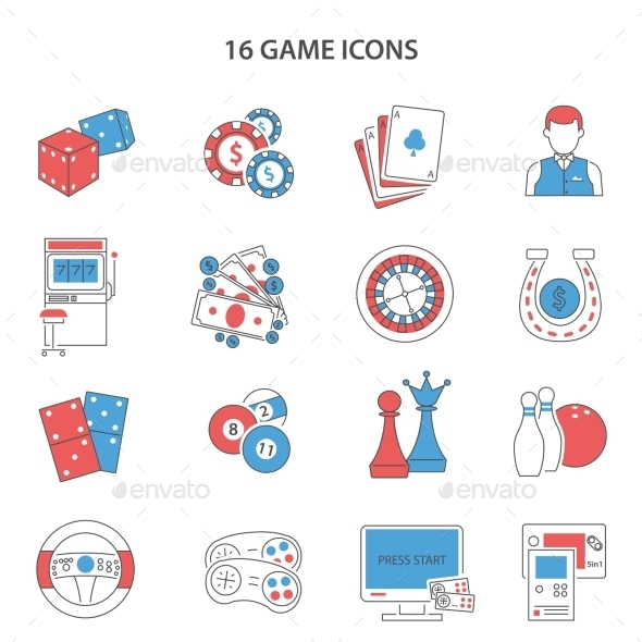 Game Line Icons Set  - Business Icons