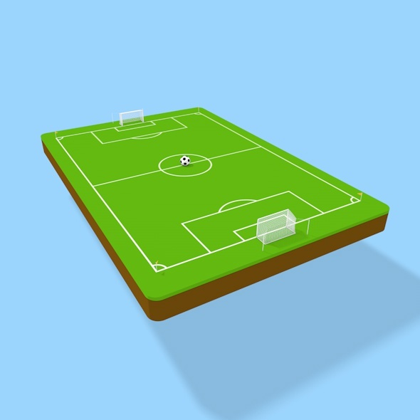 3D Soccer field - 3DOcean Item for Sale