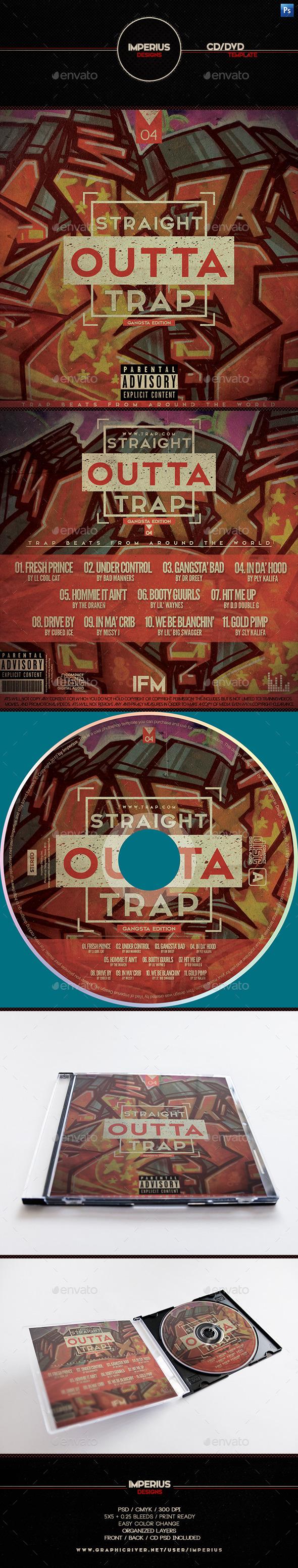 Trap V4 CD/DVD Cover - CD & DVD Artwork Print Templates