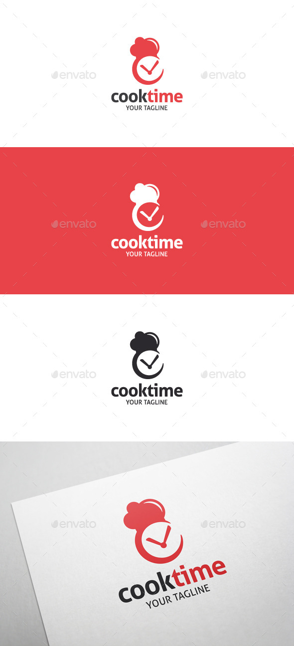 Cook Time Logo - Food Logo Templates