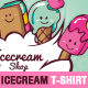 Ice Cream Illustration T-Shirt Templates - GraphicRiver Item for Sale