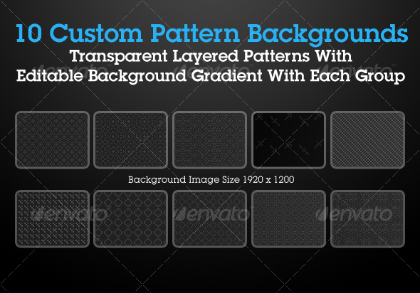 Custom Pattern Backgrounds Pack 1 - Patterns Backgrounds
