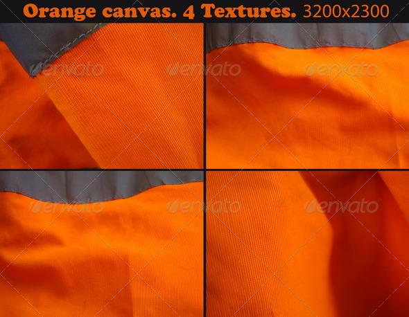 Orange canvas. 4 Textures. - Fabric Textures