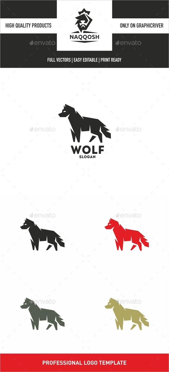 Wolf - Animals Logo Templates