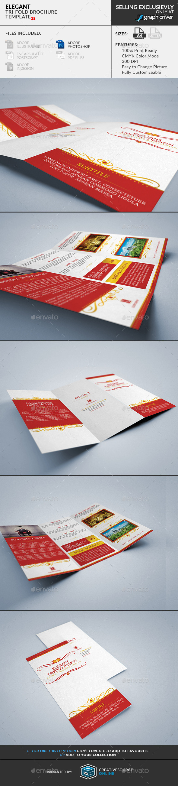 Trifold Brochure 38 : Elegant - Corporate Brochures