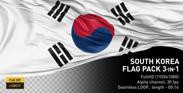 South Korea Flag Pack