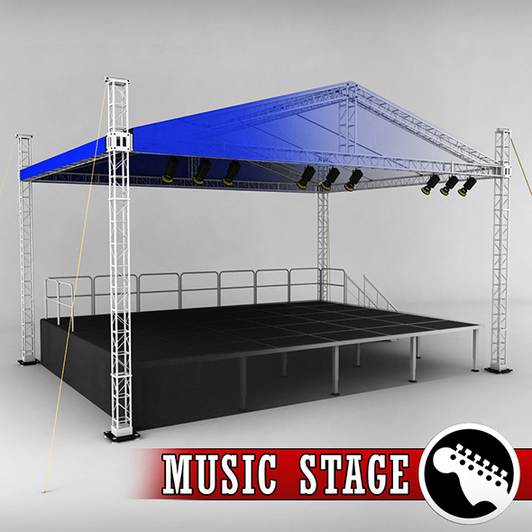 Music stage platform scaffolding - 3DOcean Item for Sale