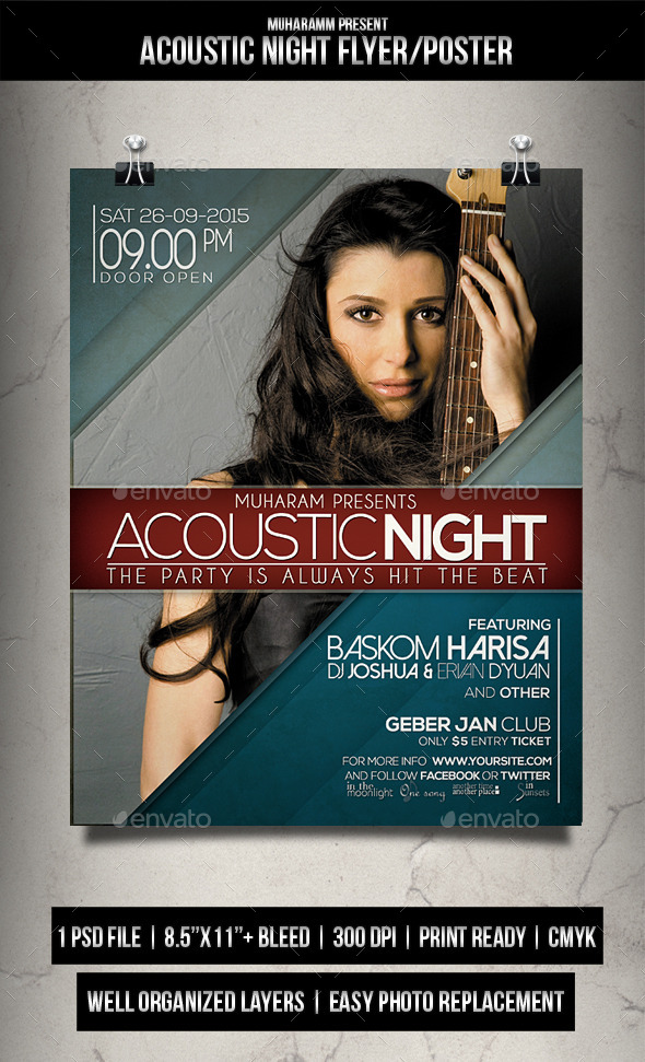 Acoustic Night Flyer / Poster Vol.2 - Events Flyers