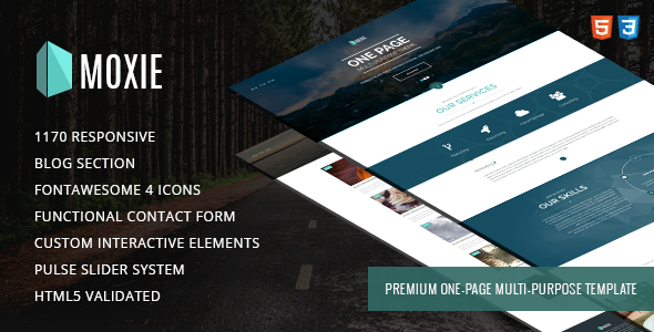 MOXIE – One page multi-purpose HTML5 template