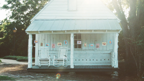 Photo Gallery at a White Cottage