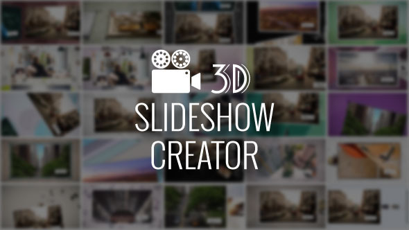 3D Slideshow Creator After Effects Script