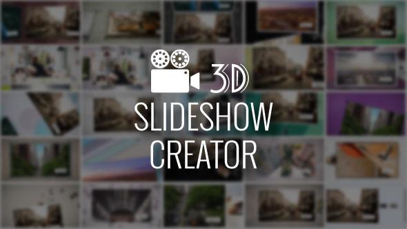 3D Slideshow Creator After Effects Script