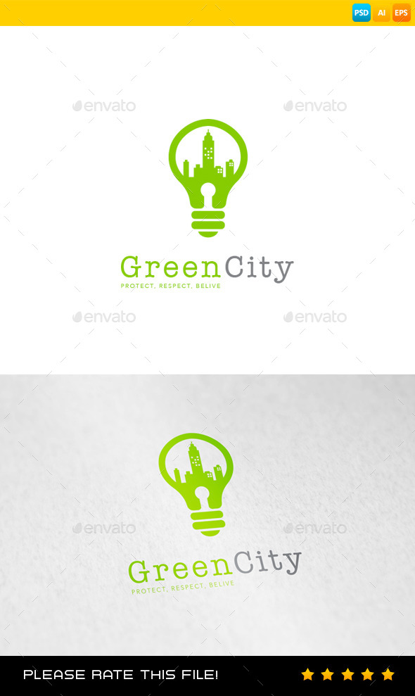 City Logo - Buildings Logo Templates