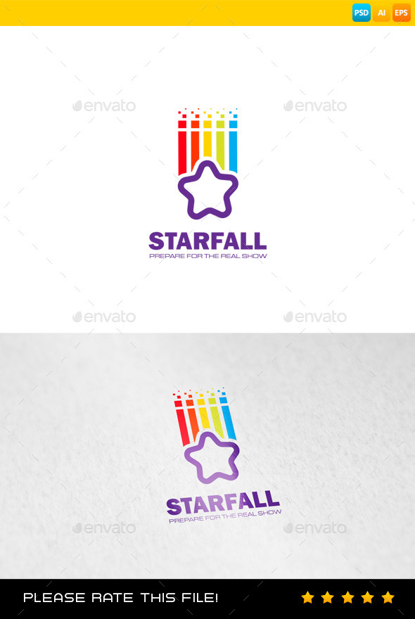 Starfall Logo - Vector Abstract