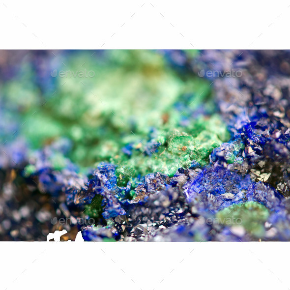 Malachite and Azurite Crystals - Stone Textures
