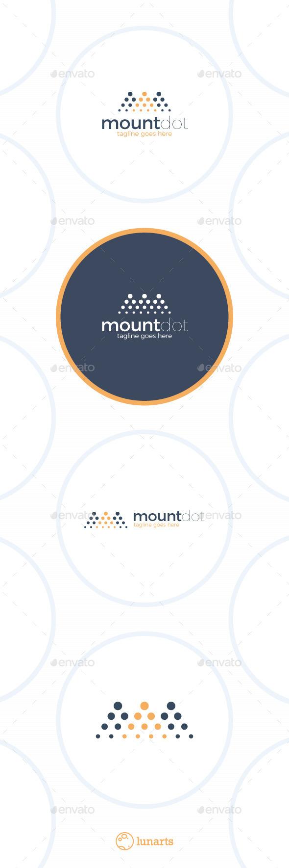 Mountain Dot Logo - Symbols Logo Templates